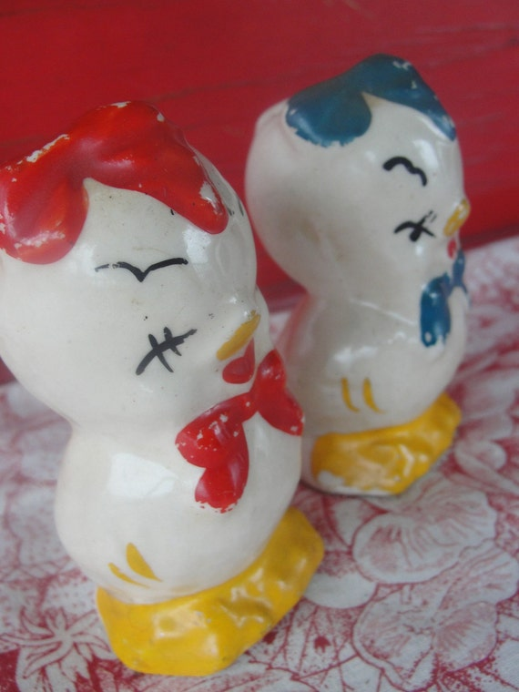 McCoy Vintage chick duck salt and pepper shakers