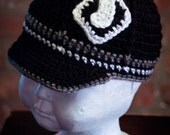 Chicago White Sox Inspired Crocheted Baseball Cap (Newborn - Children Size) (Made to Order)
