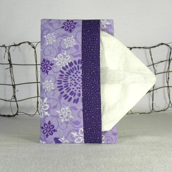 Pocket Tissue Holder - Stocking Stuffer - for Purse, Backpack, Travel  Lavender and Dark Purple