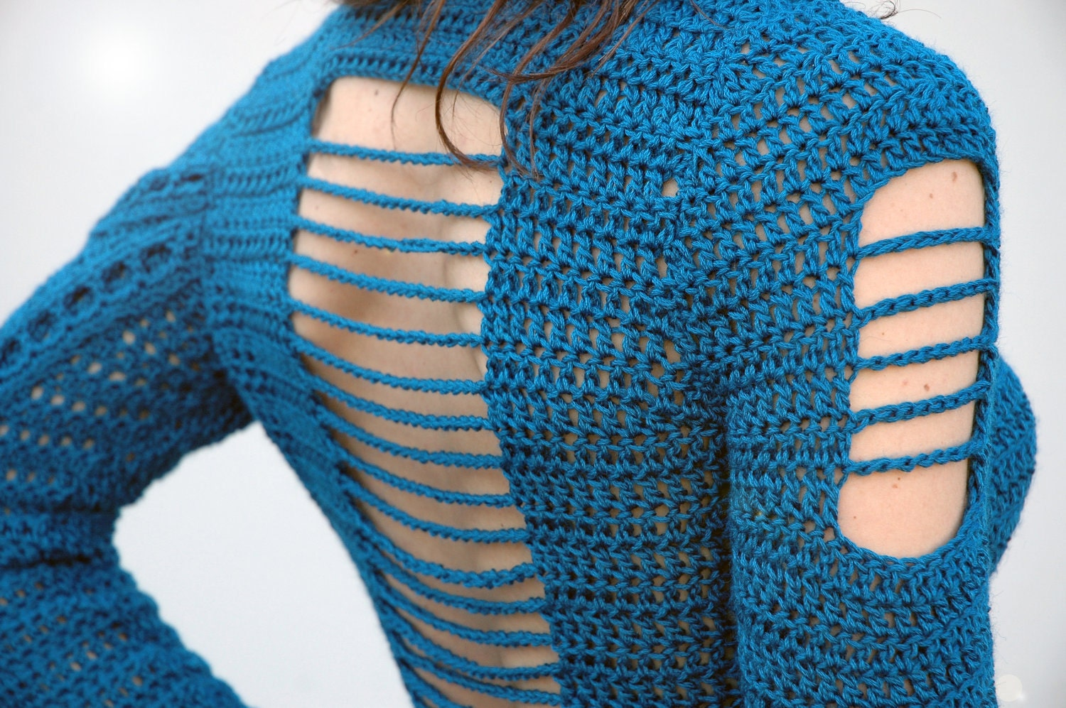 Crocheting Sweaters : Crochet Sweater Pattern PDF Peacock Sweater by ElevenHandmade