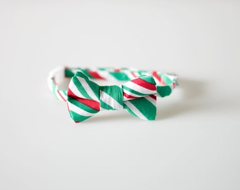 Toddler Bow Tie - Christmas Wide Stripes