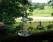 Recycled Ice Cream Soda Glass Handmade Garden Solar Light
