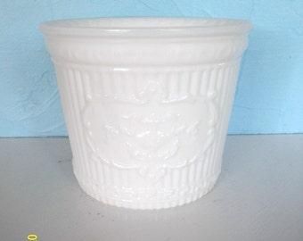 Vintage White Milk Glass Grecian Victorian Planter