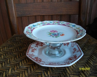 China Soap Dish, Candy Dish, Catch All, Recycled Vintage Floral Dishes, Upcycled Recycled Repurposed China Plates