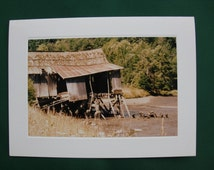 Since You Went Away is Unique Photo Stationery, Photo Note card, It's not the same anymore, Dilapidated shack, 5x7 note card and envelope