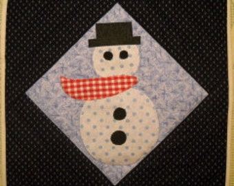 Frosty Quilted Trivet