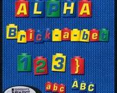 """Digital Scrapbooking Alpha: """"Brick a Bet"""" alphabet Instant Download"""
