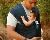 Beachfront Baby Wrap Carrier- water babywearing at the beach, pool, water park or in the shower- NAVY BLUE