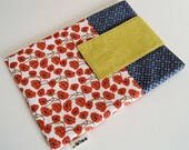 CLEARANCE SALE iPad Case Sleeve with Pockets - Handmade, padded iPad Cover - Mothers Day Gift: Poppy Fields iPad Case, ready to ship