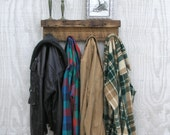 Modern Rustic Wood Coat Rack Shelf - lumber from an 1860/70's Gold Mine Camp in the Eastern Sierra Nevada Mountains