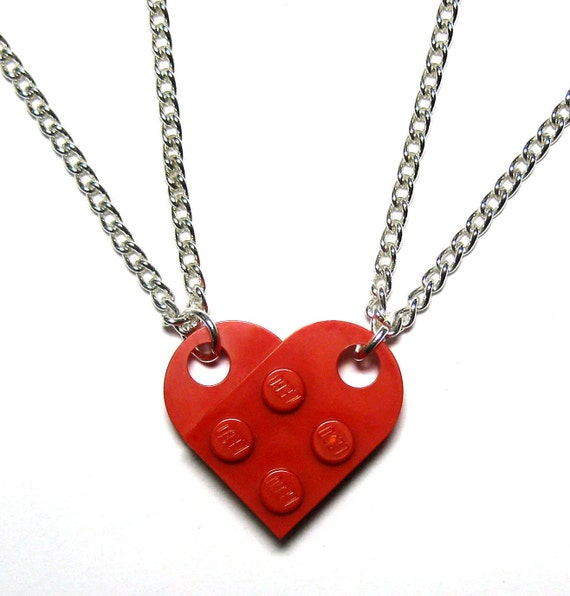 bff necklace set made of lego 174 bricks friends