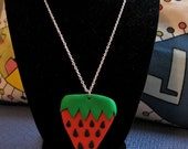 Strawberry Necklace - Kitschy & Cute!