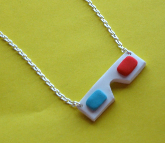 Polymer Clay 3D Glasses Necklace