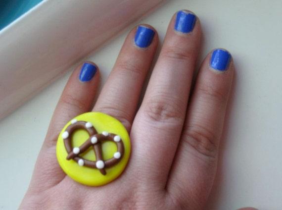 Polymer Clay Pretzel Ring