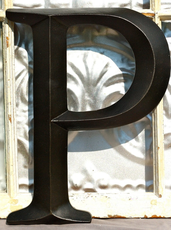 Large Letter P Sign Letter Wall Decor By