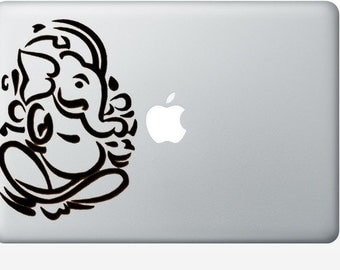 Lord Ganesh elephant laptop DECAL- macbook iPad computer- vinyl sticker