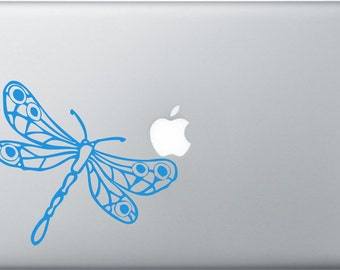 Dragonfly laptop DECAL- macbook iPad computer- animal vinyl sticker