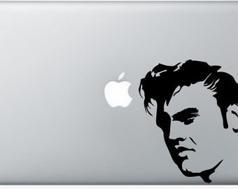 Elvis DECAL- macbook iPad computer- vinyl sticker - king  rock and roll