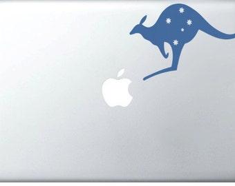 Australian Kangaroo DECAL- macbook PC iPad computer - animal vinyl sticker