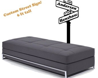 Custom Street Sign- personalized vinyl Wall DECAL-  interior design, sticker art, room, home and business decor