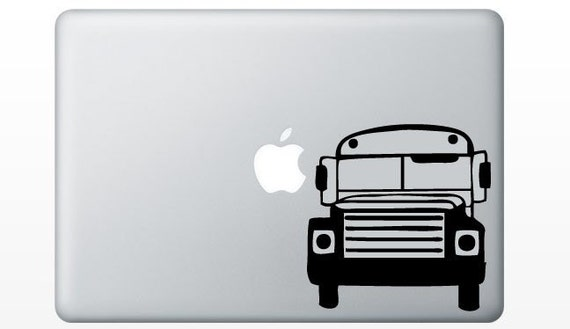 School Bus laptop DECAL- macbook iPad computer- School vinyl sticker