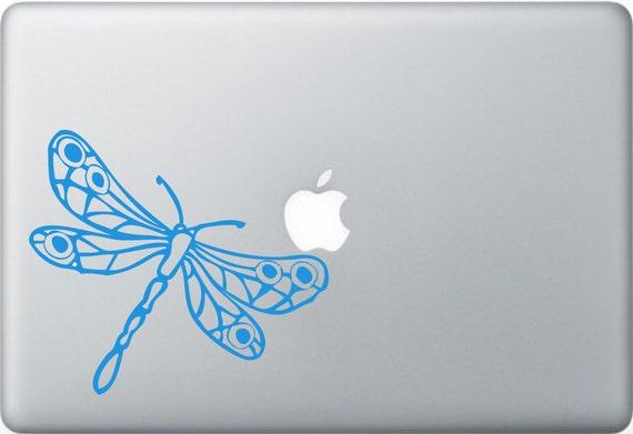 Dragonfly laptop DECAL- macbook iPad computer- animal vinyl sticker