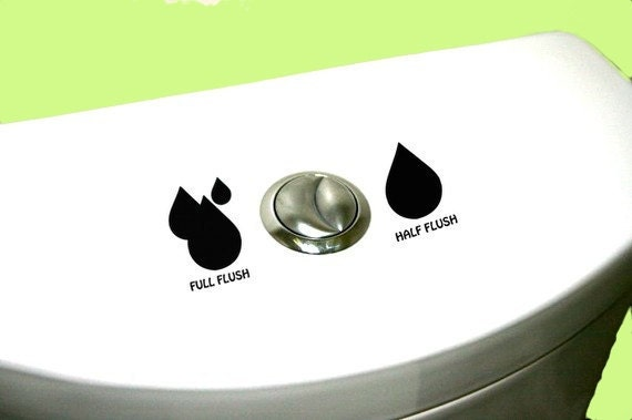 Dual Flush Decal Earth Friendly Save Water Eco Friendly Home