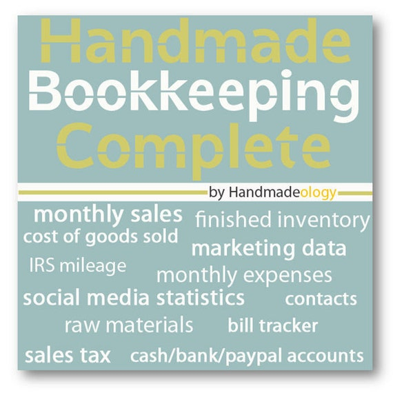 Handmade Bookkeeping Complete - Etsy Bookkeeping - Savings Package