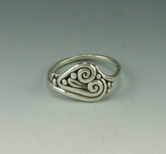 Sterling Silver Heart Shaped Handmade Ring