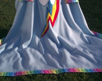 My Little Pony Friendship is Magic Rainbow Dash Fleece Blanket