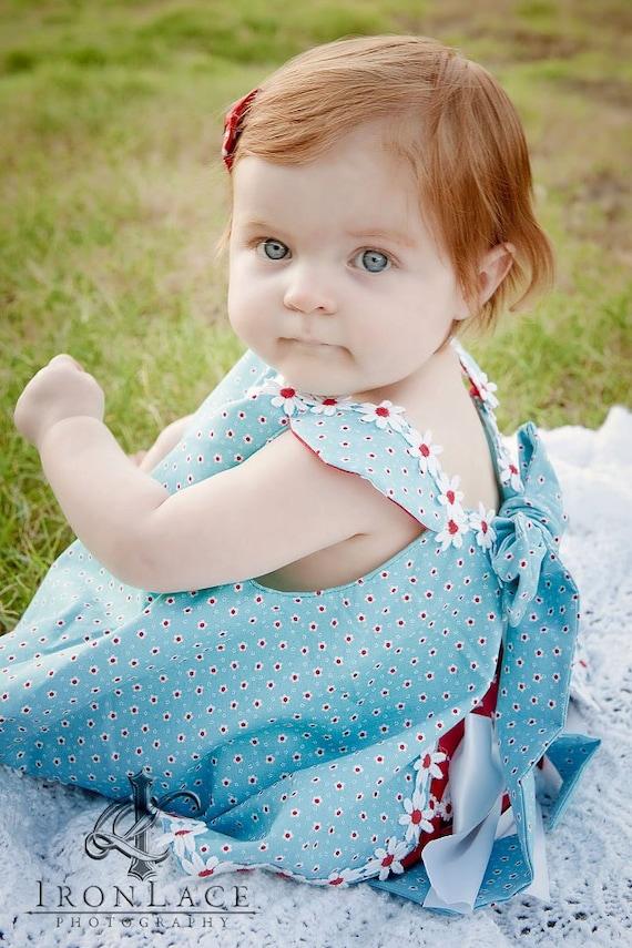 Baby Girls Spring Twirl Sundress & Ruffled Bloomers