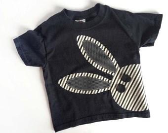 Ready to ship 4T Easter Bunny Shirt, Boys Easter Shirt