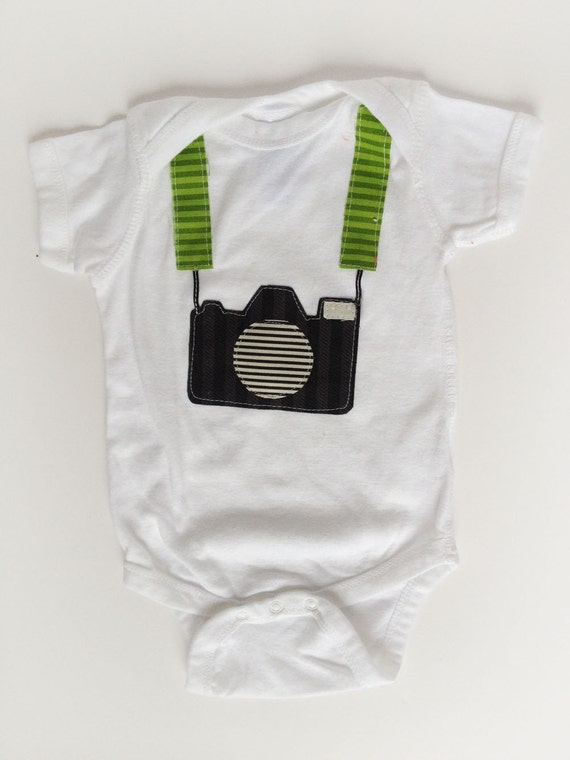 Tourist Baby Camera One Piece Shirt, Photography One Piece Shirt