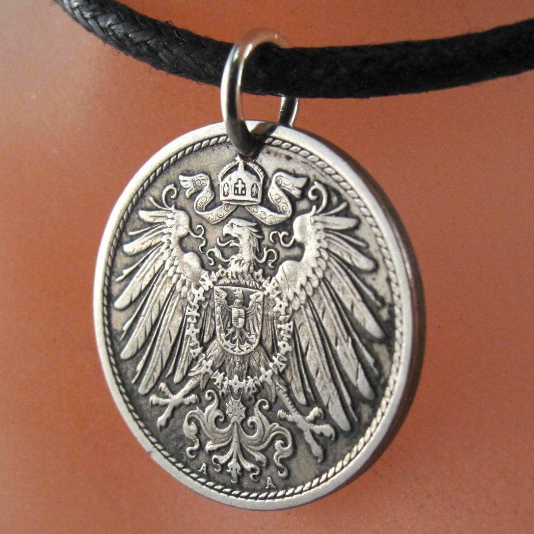 antique GERMAN COIN NECKLACE 10 pfennig Germany Deutschland