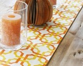 Table Runner - Yellow and Orange Geometric Shaped - LAST ONE AVAILABLE
