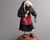 The Crone - Halloween Witch - Handmade Artwork Doll Sculpture - Pagan