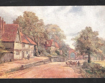 a Penshurst Kent art drawn England  antique English vintage postcard