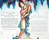 Tree Ketubah, watercolor ketubah, interfaith ketubah, modern ketubah,  katubahs, katubah, marriage certificate, Jewish wedding, ketubahs