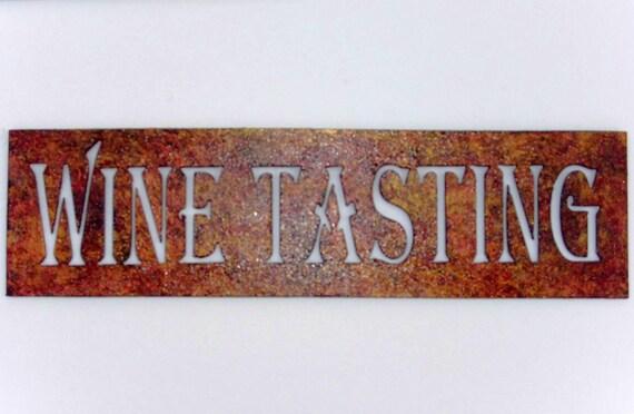 Winery,Wine Tasting ,Sign,Metal Art,Bar,Home,Cocktail,Vineyard