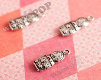 Kawaii Matryoshka  Russian Doll Tibetan Silver Charms (1-1C)