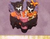 Teenage Vampire Bats in Love Halloween Ornament