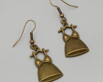 Dress Earrings; Brass Charm Earrings; Cute Earrings; Best Friend Gift; Teen Girls Jewelry; Christmas Gift; Under 20; Hippie Earrings; Simple