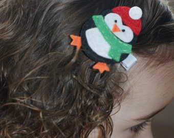 Penguin Hair Clip - Meet Miss Pelfry