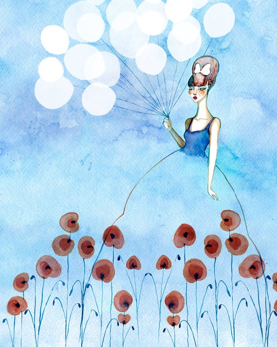 PRINT / Dreaming of Poppies & Balloons