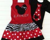 Matching Brother and Sister Mouse Outfits Personalize dress  Available 0-3 months through Size 6/8