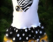 Steelers Tank  Dress Available 0-3 months through Size 6/8