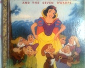 Vintage Snow White and the Seven Dwarfs  / A Little Golden Book / 1948