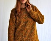 Marled Slouchy Sweater in Warm Golden Tones Multi Colored