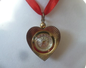 Ladies Watch Heart Valentines Day Pendent