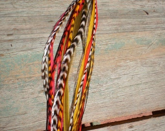 Feather Hair Extension- LONG 5 feather 5 dollars. rasta